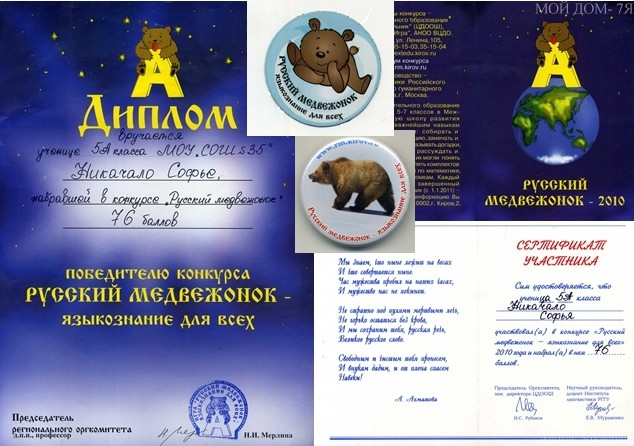 Конкурс русский медвежонок 2017 баллы